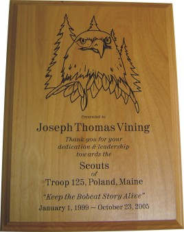 Recognition Plaque